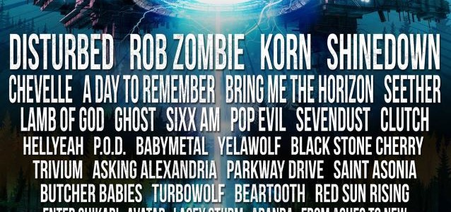 DISTURBED, ROB ZOMBIE, KORN, SHINEDOWN, CHEVELLE Set For Next Year's NORTHERN INVASION