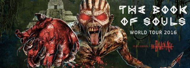 Watch IRON MAIDEN's Epic New Tour Intro And Check Out 'The Book Of Souls' Tour Merchandise