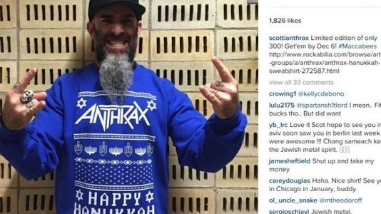 ANTHRAX Hit With $1 Million Lawsuit Over Ugly Hanukkah Sweater