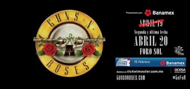 GUNS N' ROSES: Video Tour Of Official And Bootleg Merchandise Stands In Mexico City