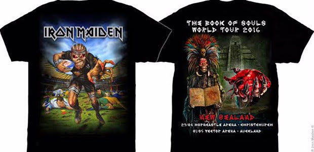 IRON MAIDEN's Tour T-Shirt Pays Tribute To New Zealand Men's National Rugby Team