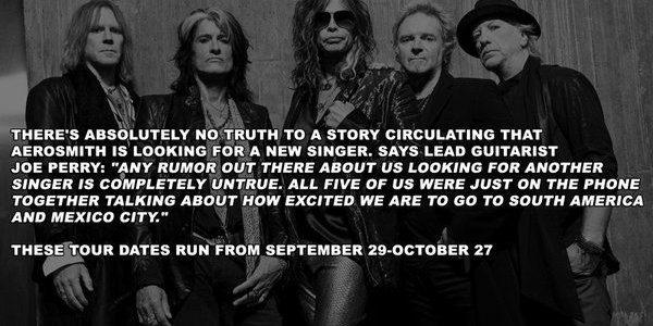 AEROSMITH's JOE PERRY Says New Singer Rumors Are 'Completely Untrue'