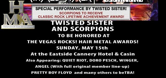 Video: TWISTED SISTER, TESTAMENT, Ex-RATT, Ex-QUIET RIOT Members Perform 'Crazy Train' At 'Hair Metal Awards'
