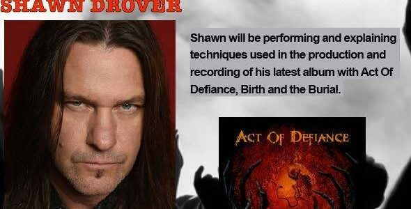 Ex-MEGADETH Drummer SHAWN DROVER: Video Footage Of Columbus, Georgia Drum Clinic
