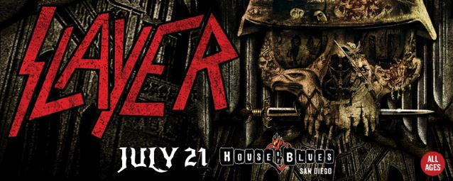 Video: SLAYER Plays Intimate Show During SAN DIEGO COMIC-CON INTERNATIONAL