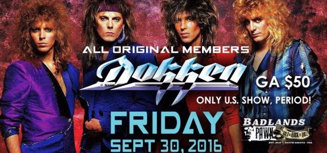 Classic Lineup Of DOKKEN Announces Only U.S. Reunion Show