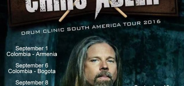 LAMB OF GOD's CHRIS ADLER: Video Footage Of Bogotá, Colombia Drum Clinic