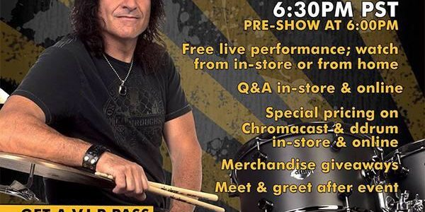 VINNY APPICE: Video Footage Of Latest GoDpsMusic Drum Clinic
