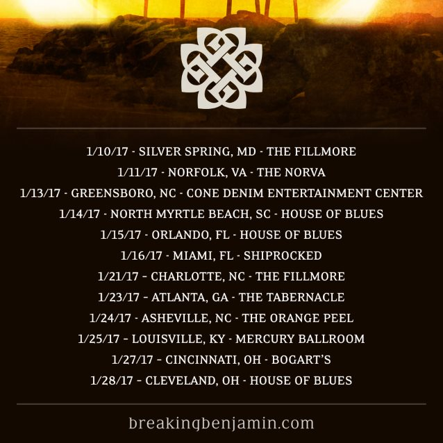 breaking benjamin announces january 2017 tour dates special blabbermouth net presale hard. Black Bedroom Furniture Sets. Home Design Ideas
