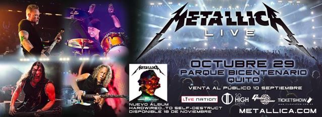 METALLICA: Official Video Footage Of 'Harvester Of Sorrow' Performance From Quito