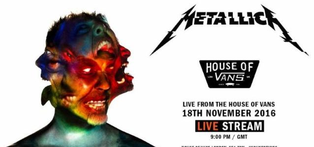 METALLICA: Watch Pro-Shot Footage Of Entire Intimate Concert At House Of Vans In London