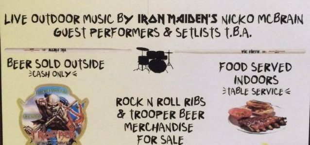 IRON MAIDEN's NICKO MCBRAIN Presented With Special Navy SEAL Fin At Rock N Roll Ribs Anniversary Party