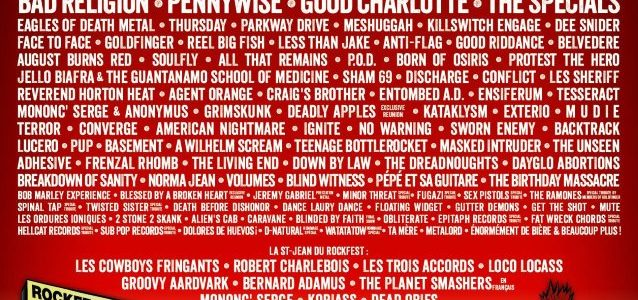 MEGADETH, THE OFFSPRING, QUEENS OF THE STONE AGE, Others Confirmed For MONTEBELLO ROCKFEST