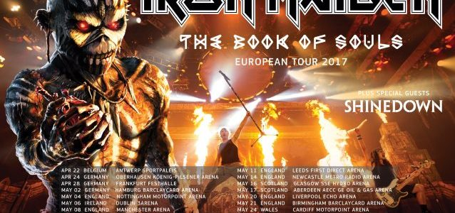 IRON MAIDEN Kicks Off 2017 Leg Of 'The Book Of Souls' Tour In Antwerp, Belgium (Video)