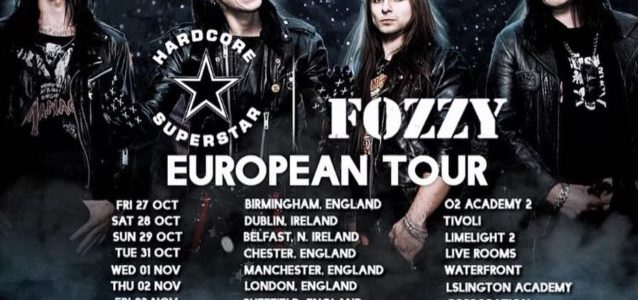 FOZZY To Tour Europe With HARDCORE SUPERSTAR