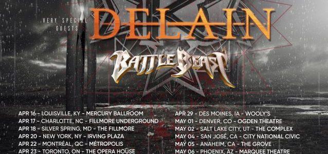 KAMELOT Announces 2018 North American Tour With DELAIN, BATTLE BEAST