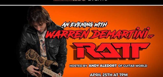 RATT's WARREN DEMARTINI: Video Footage Of THE MUSIC ZOO Event