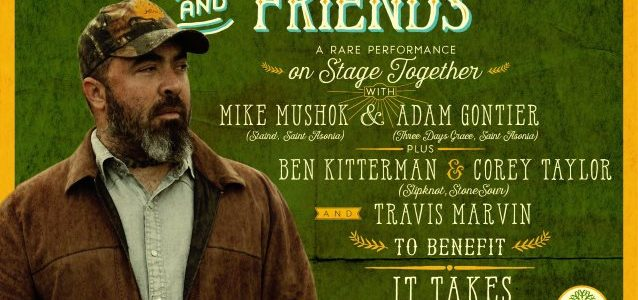 STAIND And GODSMACK Members Pay Tribute To CHRIS CORNELL, CHESTER BENNINGTON At 'Aaron Lewis And Friends' Concert (Video)