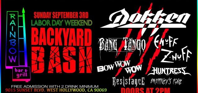 Watch DOKKEN Perform At Rainbow Bar & Grill's Labor Day Weekend Backyard Bash