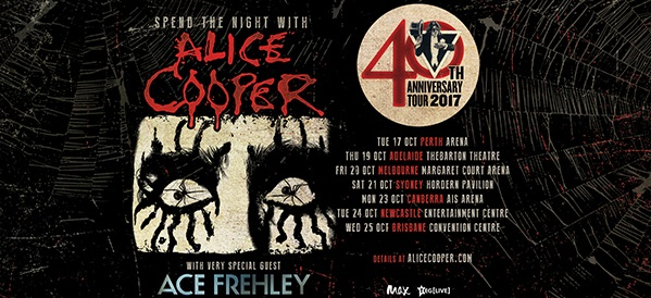 ACE FREHLEY Joins ALICE COOPER On Stage In Brisbane (Video)