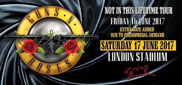 GUNS N' ROSES' Summer 2017 European Leg Of 'Not In This Lifetime' Tour Rakes In More Than $112 Million