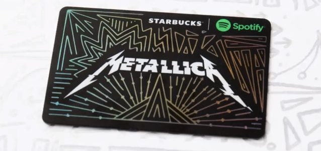 METALLICA Teams Up With STARBUCKS, SPOTIFY For Limited-Edition Gift Card