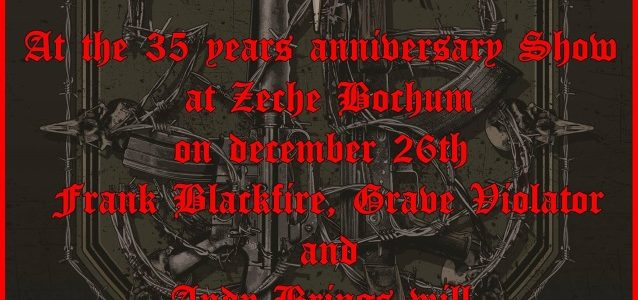 SODOM To Be Rejoined By Three Former Guitarists At 35th-Anniversary Concert In Germany