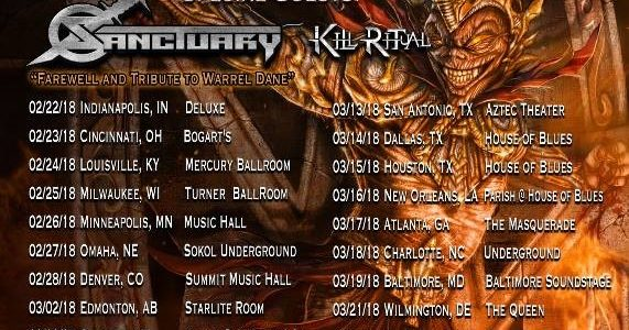 SANCTUARY To Tour With ICED EARTH As Farewell To WARREL DANE; Guest Vocalist Announced