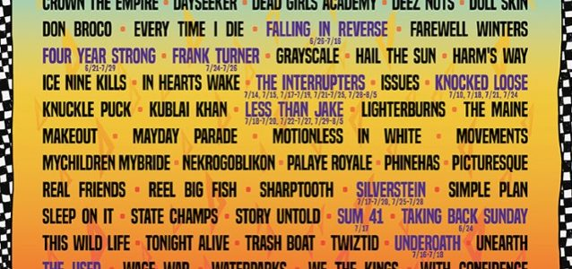 2018 VANS WARPED TOUR Lineup Revealed