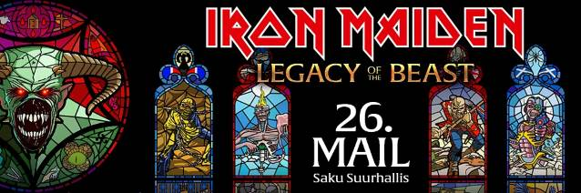 IRON MAIDEN Kicks Off 'Legacy Of The Beast' World Tour In Tallinn, Estonia (Video)