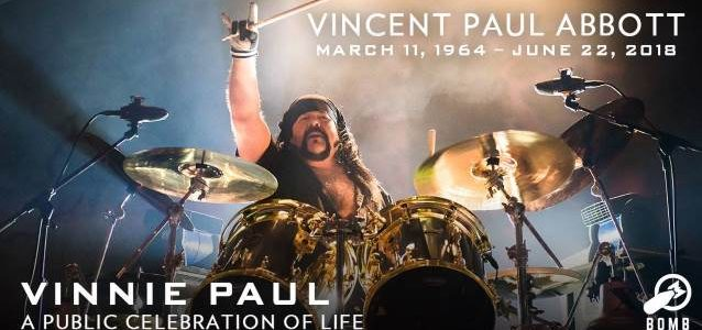 Watch VINNIE PAUL's Public Memorial Live Right Now