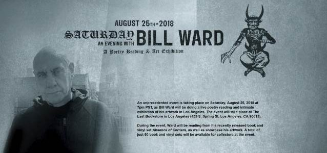 Original BLACK SABBATH Drummer BILL WARD Schedules Live Poetry Reading And Intimate Exhibition Of His Artwork