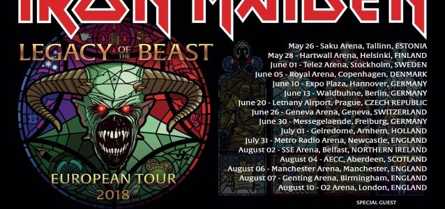 IRON MAIDEN's Summer 2018 'Legacy Of The Beast' Tour Generates Millions