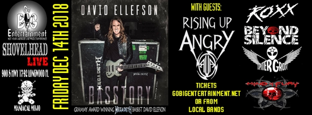 Watch MEGADETH's DAVID ELLEFSON Perform In Longwood, Florida During 'Basstory' Tour