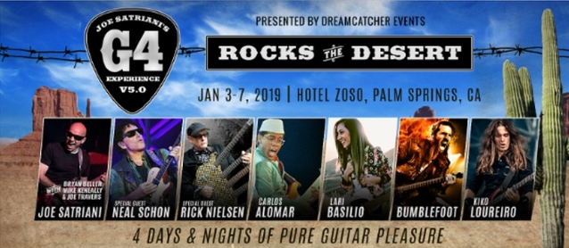 Watch JOE SATRIANI And NEAL SCHON Jam The Blues At 'G4 Experience V5.0: Rocks The Desert'