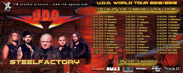 UDO DIRKSCHNEIDER Ignores Doctors' Advice, Will Tour With U.D.O. Despite 'Serious Health' Issue