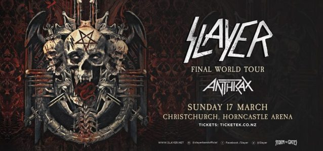 SLAYER And ANTHRAX Christchurch Show Canceled Following Mosque Shootings