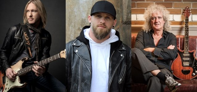 FIVE FINGER DEATH PUNCH Teams Up With BRIAN MAY, BRANTLEY GILBERT And KENNY WAYNE SHEPHERD For Special Version of 'Blue On Black'