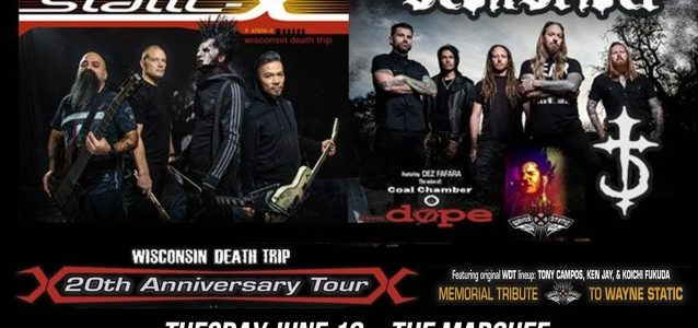 STATIC-X Kicks Off 'Wisconsin Death Trip' 20th-Anniversary Tour In Tempe (Video)