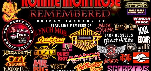 GEORGE LYNCH, BRAD GILLIS, CARMINE APPICE, JACK RUSSELL, Others To Pay Tribute To RONNIE MONTROSE