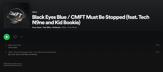 COREY TAYLOR's New Single 'CMFT Must Be Stopped' To Feature Rappers TECH N9NE And KID BOOKIE