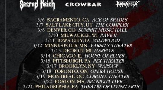 SEPULTURA Announces 2021 North American Tour With SACRED REICH, CROWBAR And ART OF SHOCK