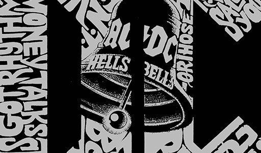 LA POP ART Unveils AC/DC 'Word Art' Branded Line Of Apparel