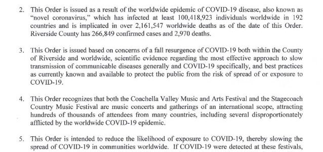 COACHELLA Festival Postponed For A Third Time Due To Coronavirus